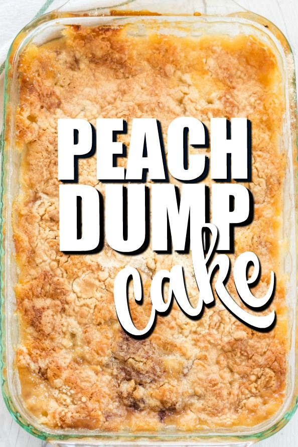 Peach Dump Cake Recipe #peachcake