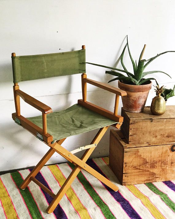 Fantastic Canvas Folding Chair Directors Chair Green Chair Canvas Seat Inzonedesignstudio Interior Chair Design Inzonedesignstudiocom