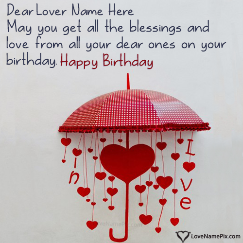 Happy Birthday Messages For Lover Name Generator
