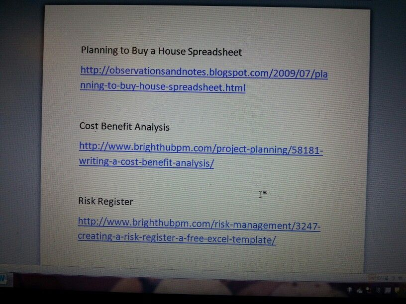 Cost benefit analysis; planning to buy a home spreadsheet; risk - Analysis Spreadsheet Template