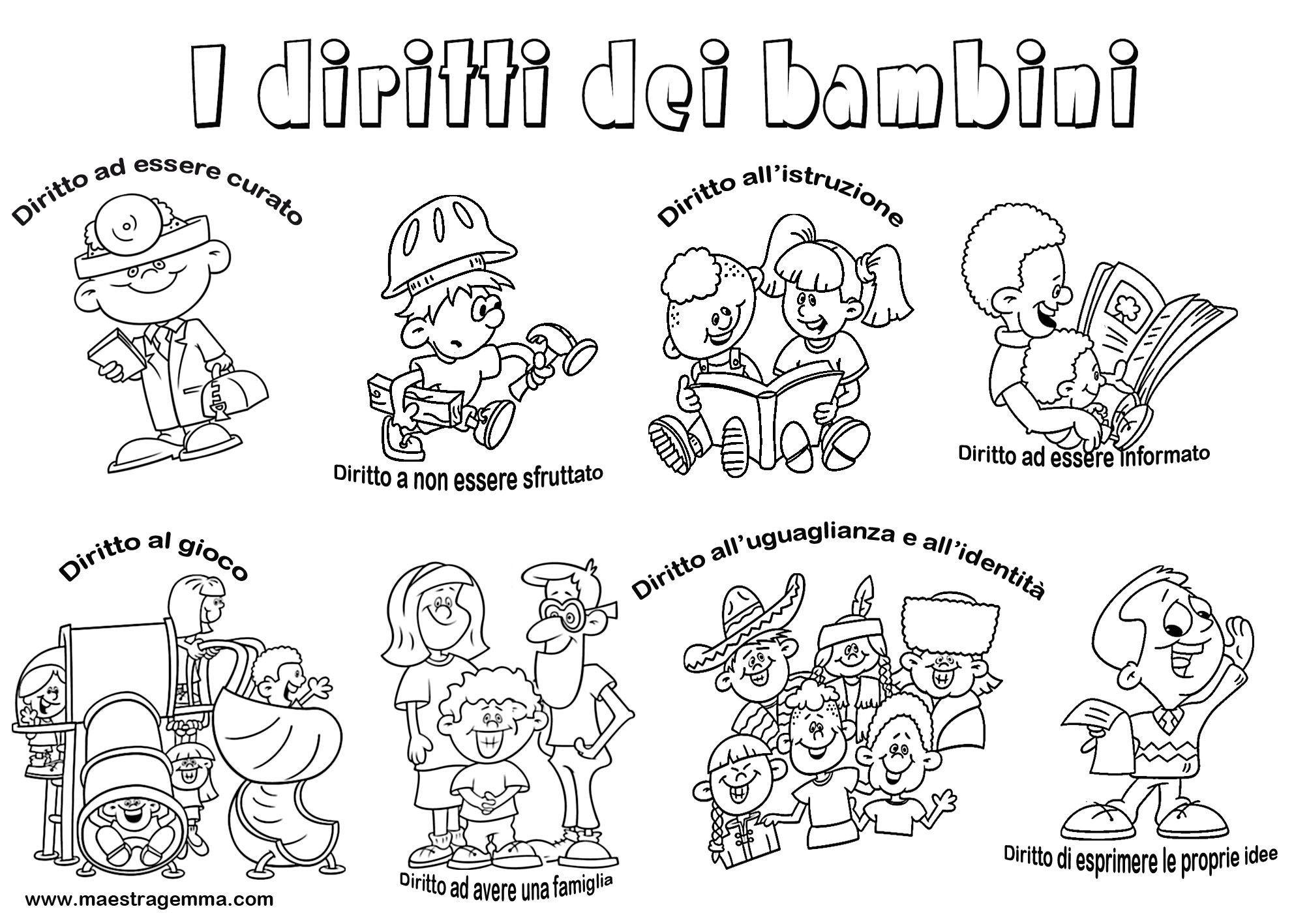 30 ricerca diritti dei bambini da stampare e colorare for Maestra gemma diritti dei bambini