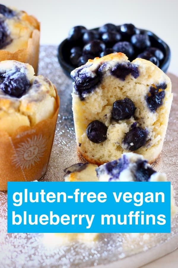 These Gluten-Free Vegan Blueberry Muffins are moist and fluffy, packed full of sweet, juicy blueberries and definitely healthy enough for breakfast! Egg-free, dairy-free and refined sugar free.