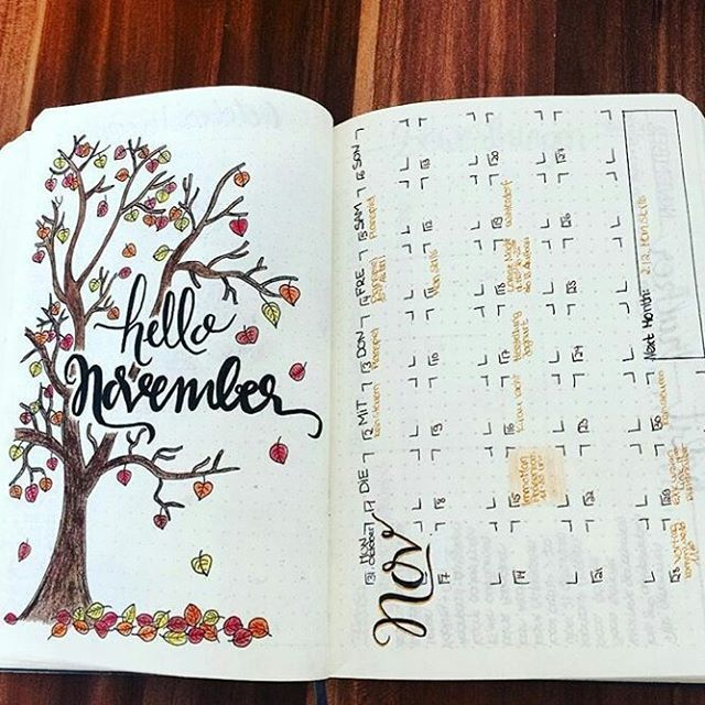 Creative Organization: Fall Bullet Journal Monthly Spread ...