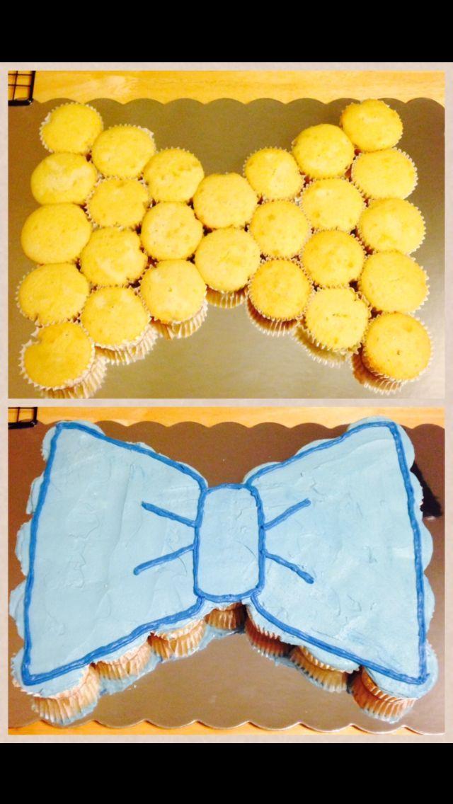 Bowtie Cupcake Cake Google Search First Birthday