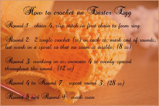 crochet Easter egg free pattern by zoomyummy.com