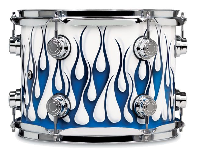 Dw Drums Collector S Series Graphics Regal To Royal Hot Rod