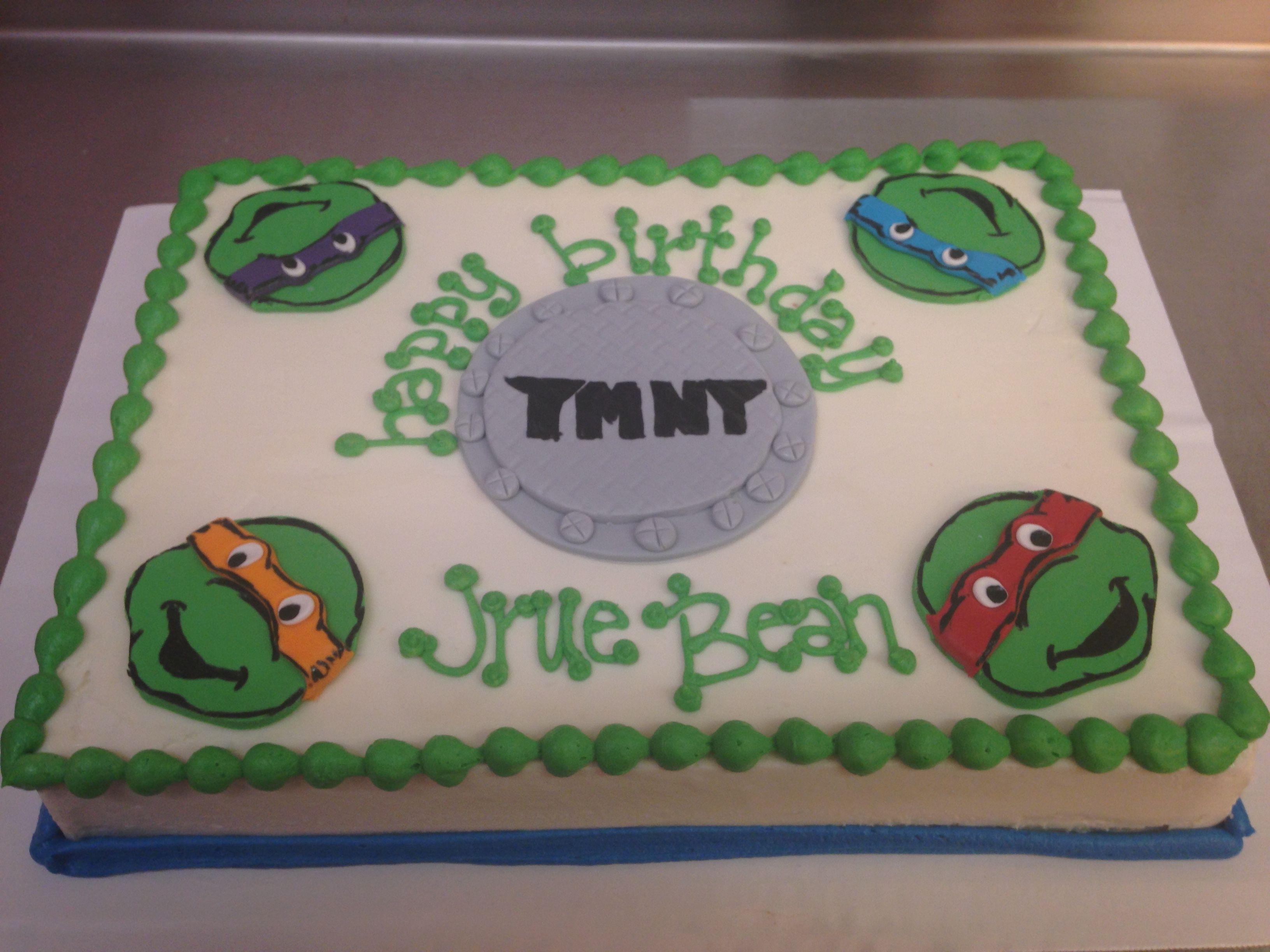 Ninja turtles sheet cake Bake Me Happy Www.bakemehappy.net ...