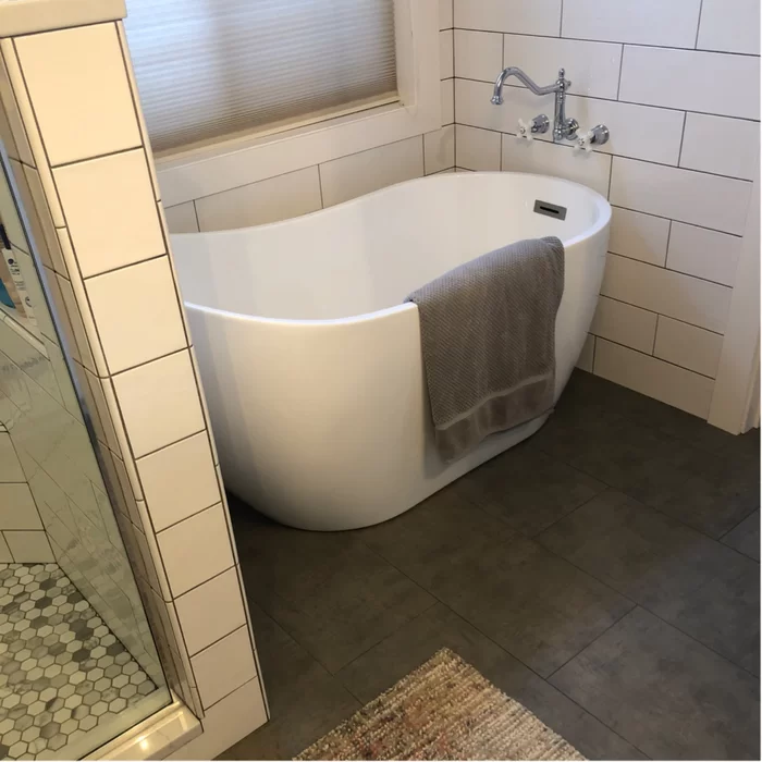 54 X 29 Freestanding Soaking Bathtub In 2020 Soaking Bathtubs Bathtub Wood Bridge