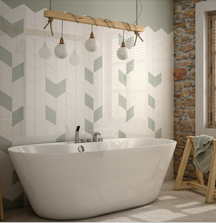 Tiles For Wall Decor Beauteous The Most Beautiful Bathroom Featuring A Free Standing Bath And A Design Ideas
