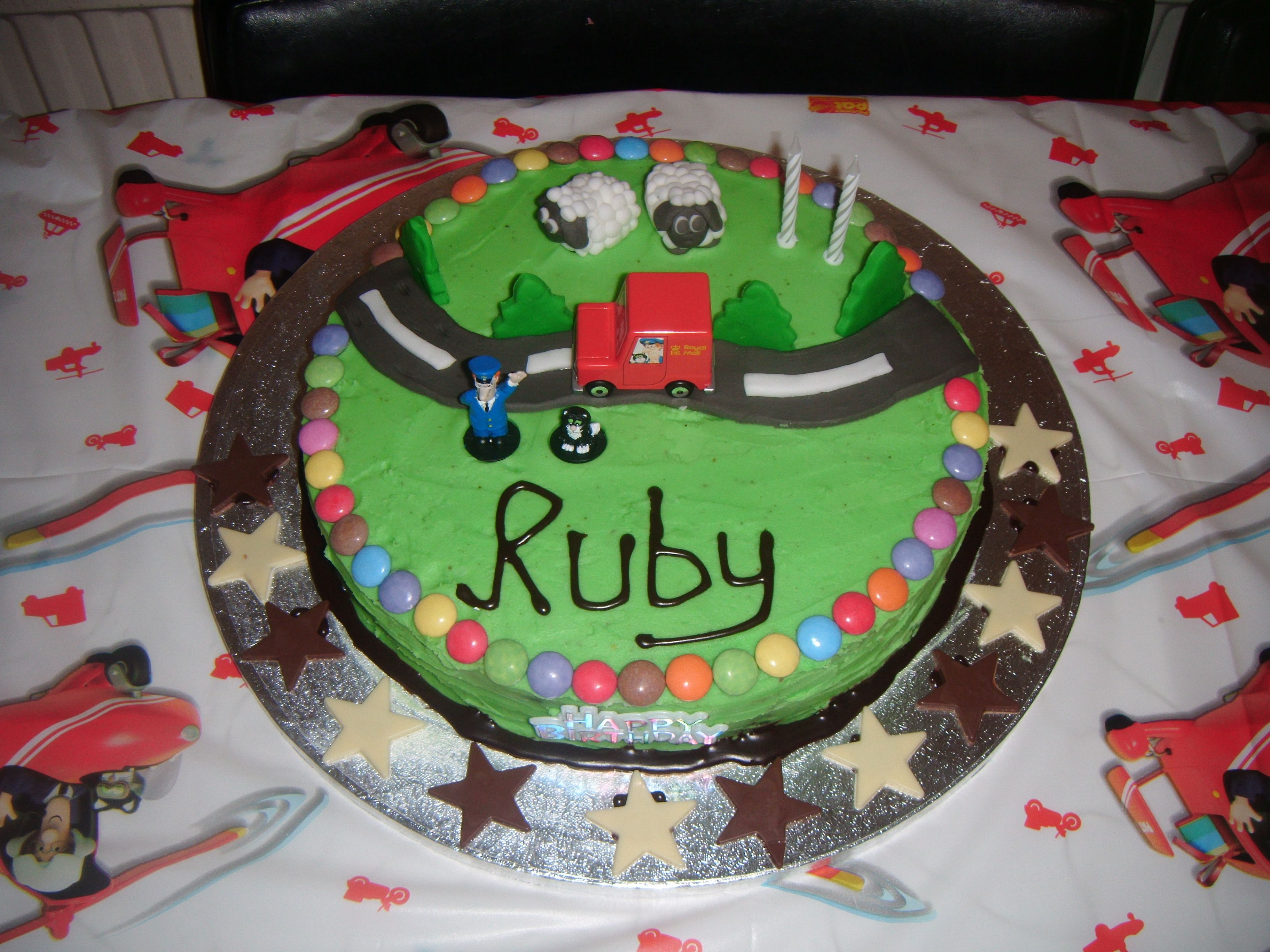 how to make a postman pat birthday cake