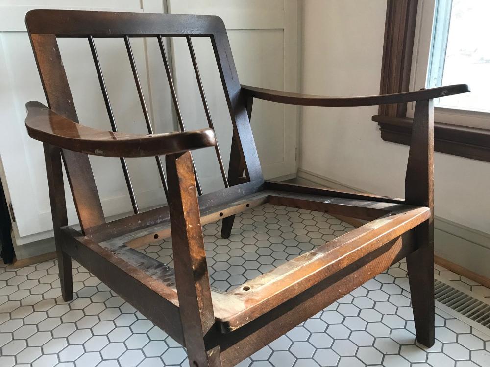 Vintage Mid Century Modern Walnut Lounge Accent Chair Project Etsy In 2020 Mid Century Modern Lounge Chairs