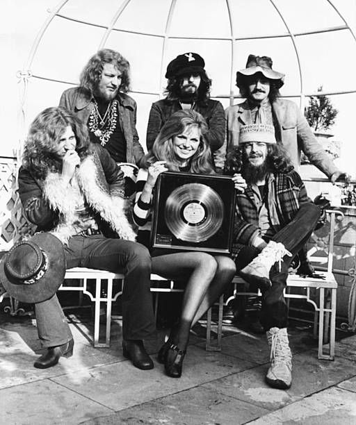 portrait of english rock band jethro tull martin barre jeffrey hammond clive bunker and john. Black Bedroom Furniture Sets. Home Design Ideas