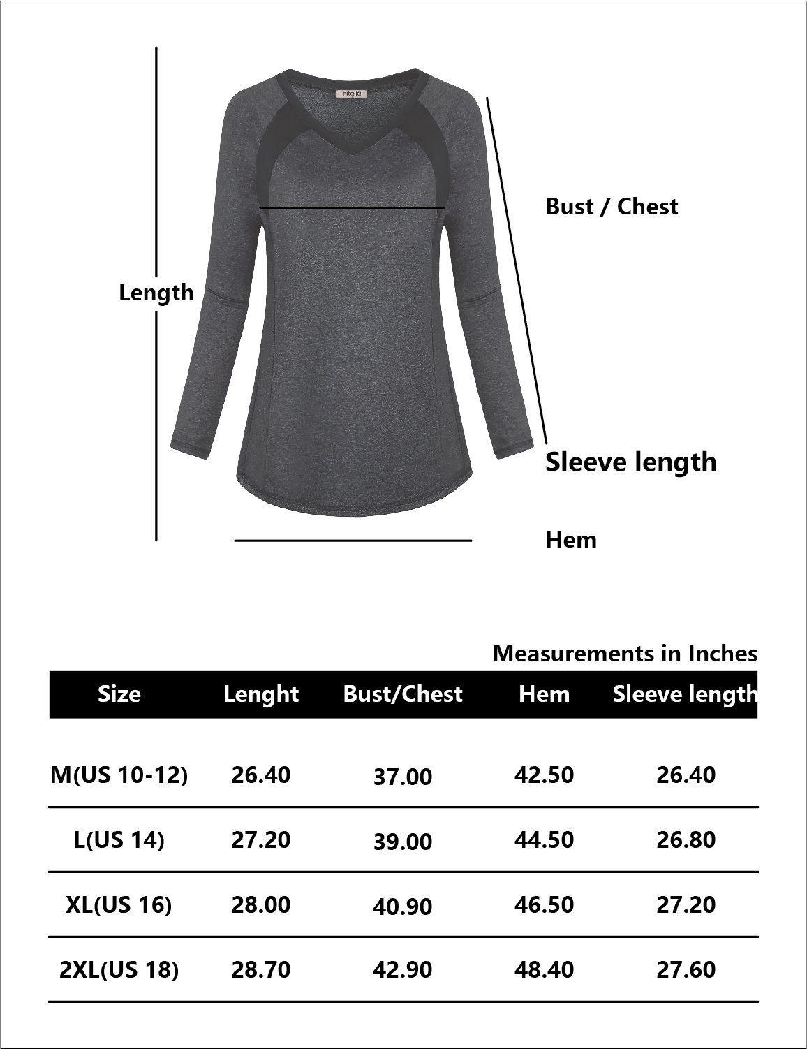 ffe360baa1620e Hibelle Running Clothes For Women Winter Ladies Black Long Sleeve Shirt  Women V Neck Athletic Gym