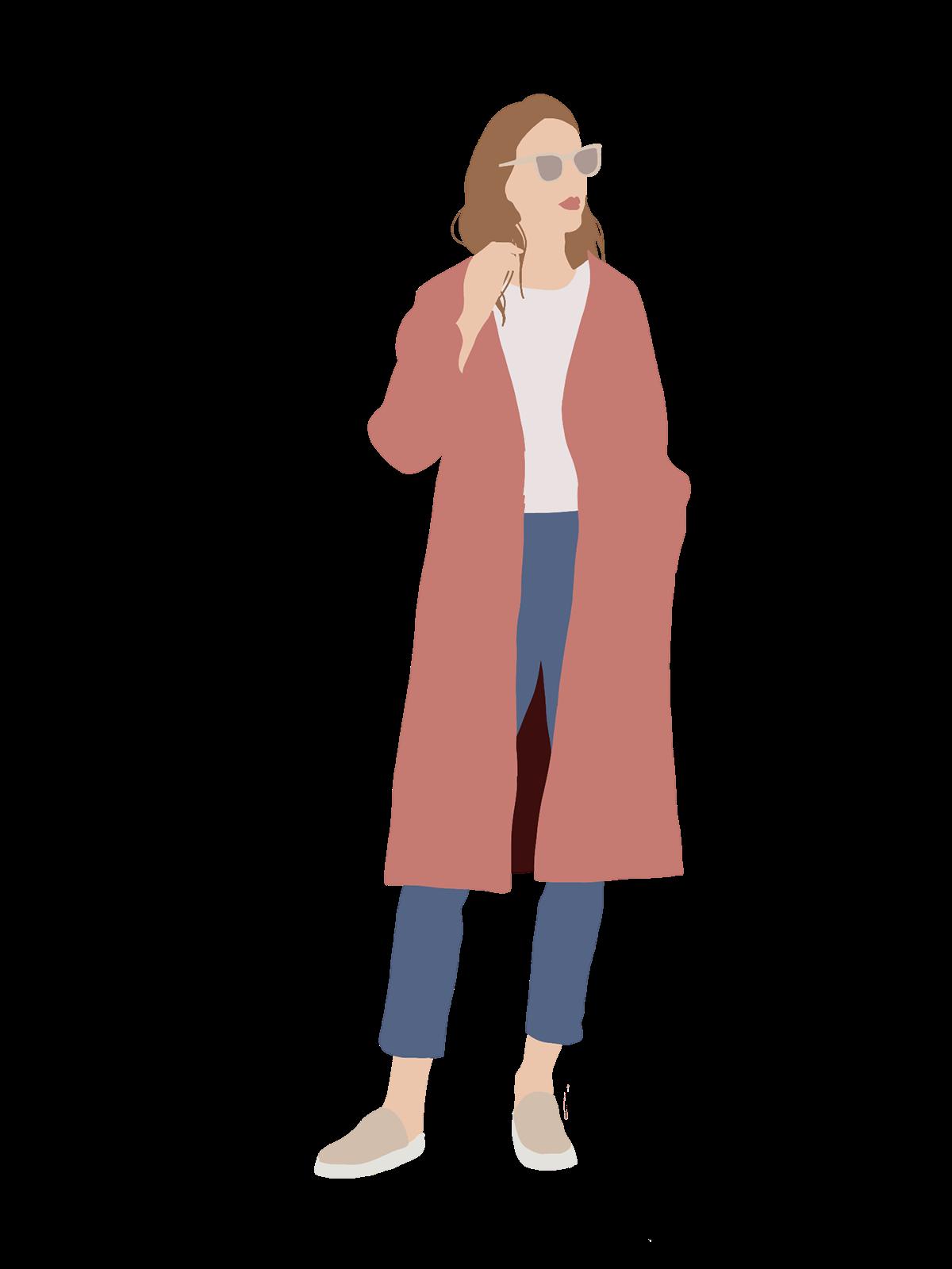 People Flat Illustration on Behance Ilustraciones de
