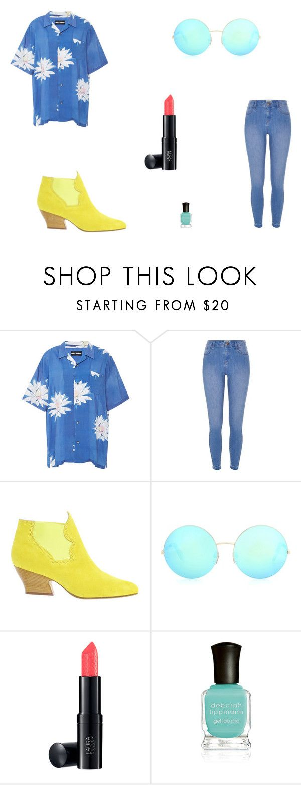 """Untitled #7369"" by mie-miemie ❤ liked on Polyvore featuring Double Rainbouu, River Island, Acne Studios, Victoria Beckham and Deborah Lippmann"