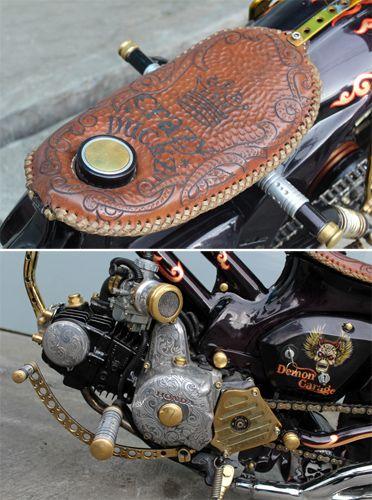 Honda C70 Jpg 372 500 Tahu Kustom Rockabilly