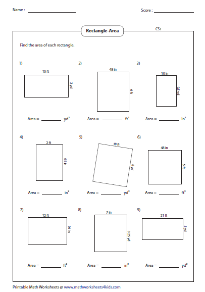 Perimeter And Area Worksheet Answers Worksheets for all | Download ...