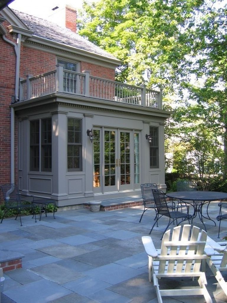 92 Stunning Second Floor Balcony Architecture Ideas Traditional Exterior Stone Porches Patio