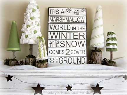 Marshmallow Wonderland Vignette from Today's Fabulous Finds via Craft Gossip