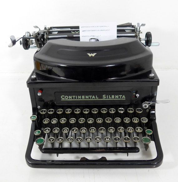 Beautiful ancient typewriter Continental Silenta Walker by flosil
