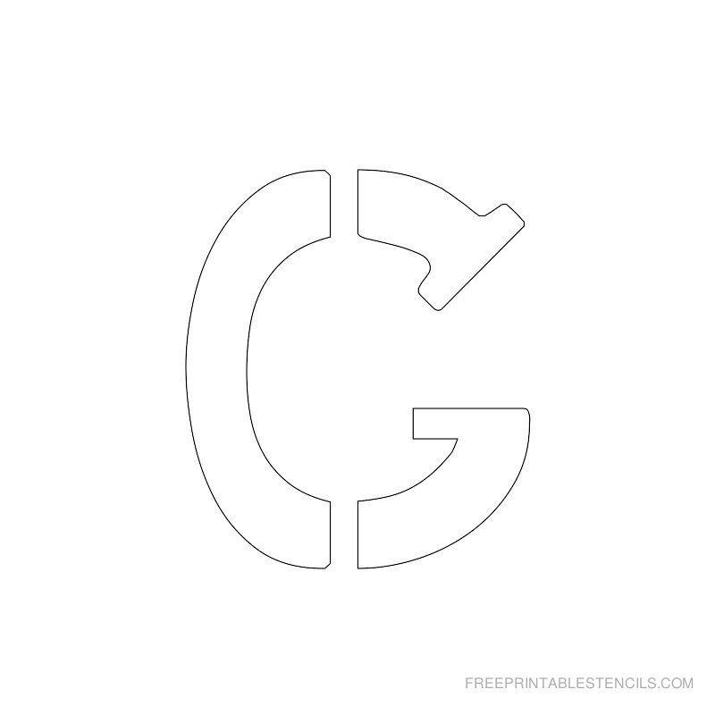 Free Printable Letter Stencils  Free Printable  Inch Alphabet