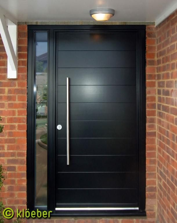 Black front door google search home decor pinterest for Modern single door designs for houses