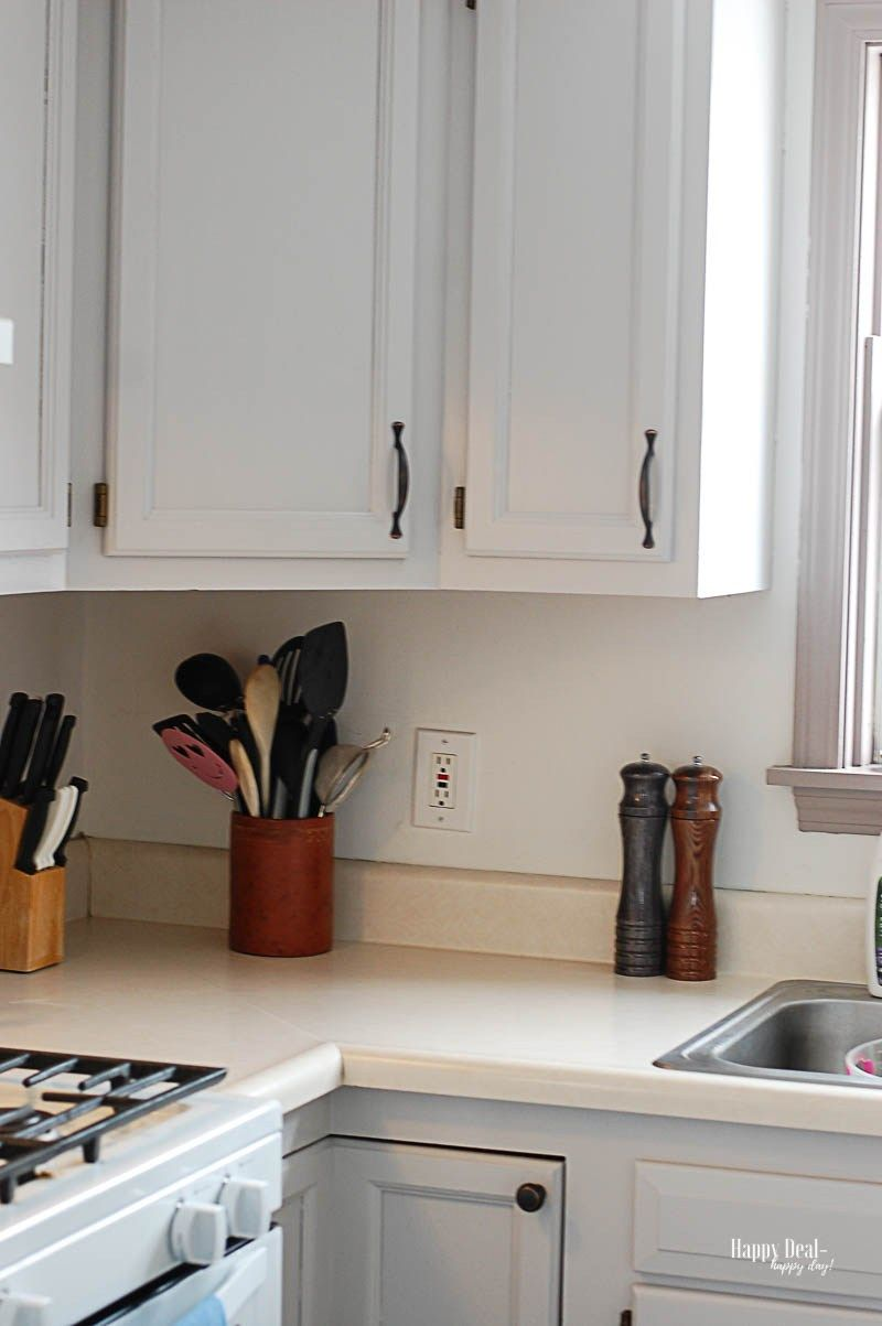 How To Paint Kitchen Cabinets Without Sanding Happy Deal Happy Day In 2020 Diy Kitchen Cabinets Makeover Kitchen Paint Diy Kitchen Cabinets