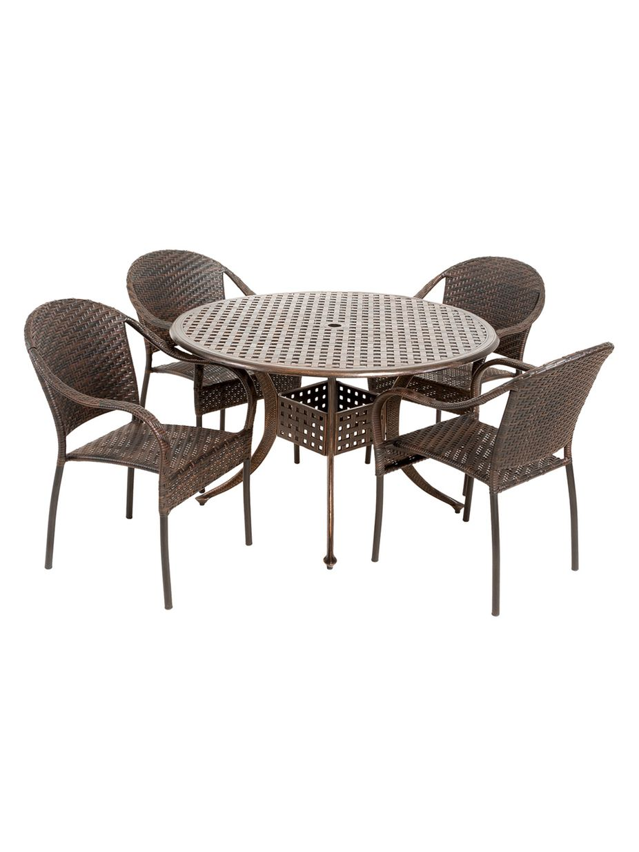 Nfusion Outdoor Sunset Circular Outdoor Set (5 PC) | Home Fashion ...