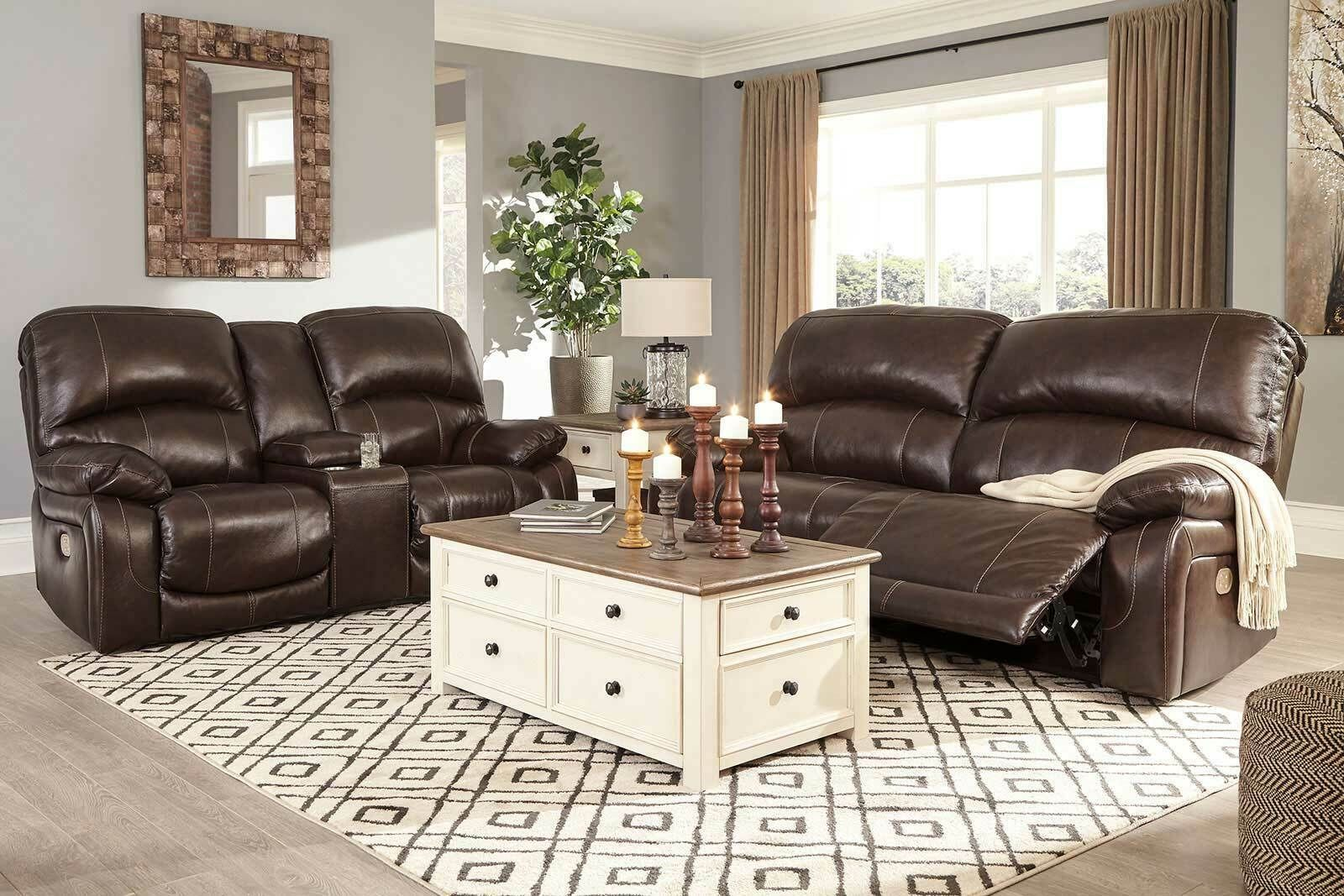 New Living Room Furniture Brown Leather Power Reclining Sofa Loveseat Set If1 In 2020 Brown Leather Sofa Living Room Modern Living Room Brown Brown Couch Living Room