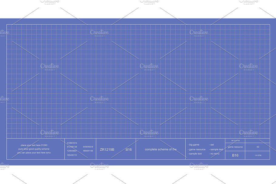 Blueprint Project Scheme Vector Blueprints Chalkboard Vector Projects