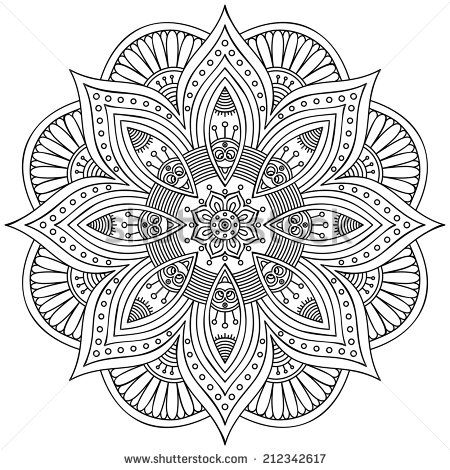 Stock Images Similar To Id 103161836 Ornamental Round Floral Pattern Coloring Books Coloring Book Pages Mandala Coloring Pages