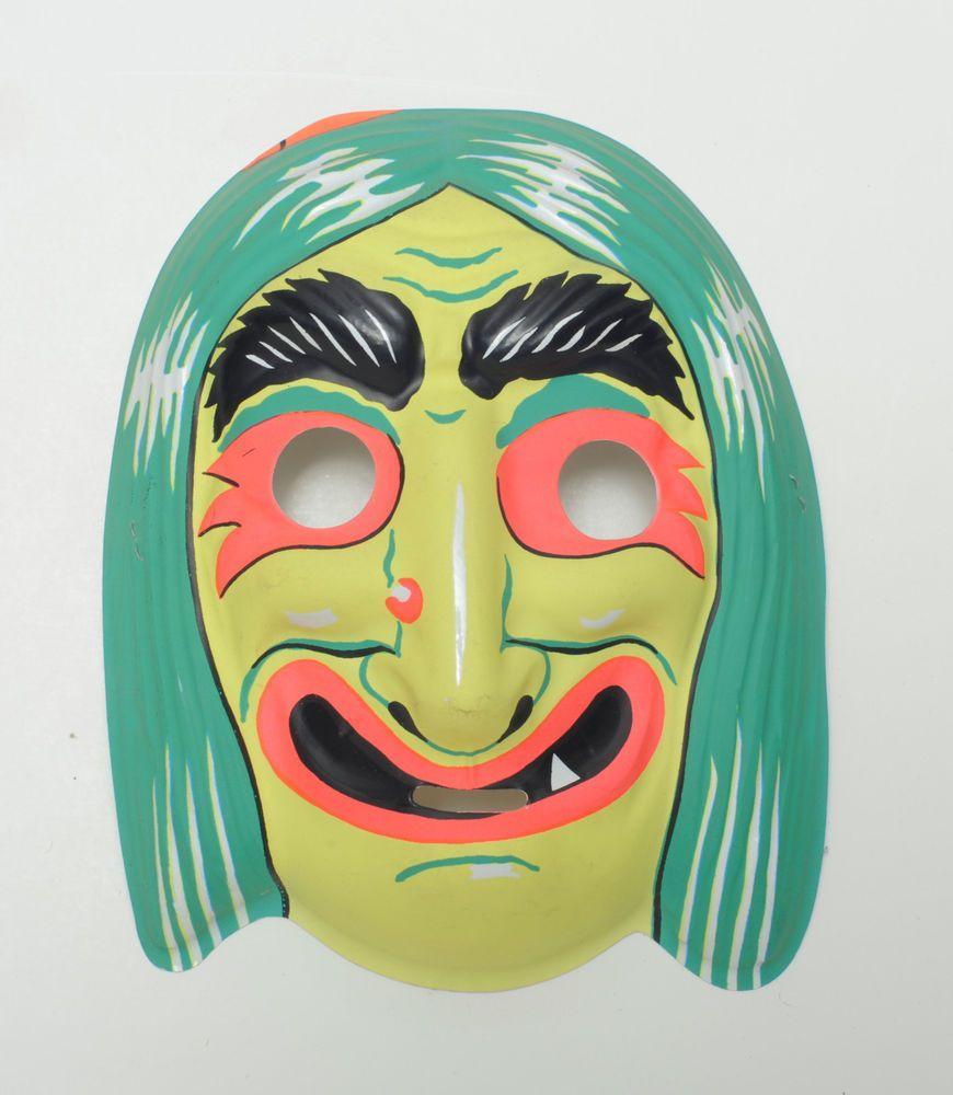 Witch plastic Vintage Collegeville Ben Cooper Halloween Mask NR ...