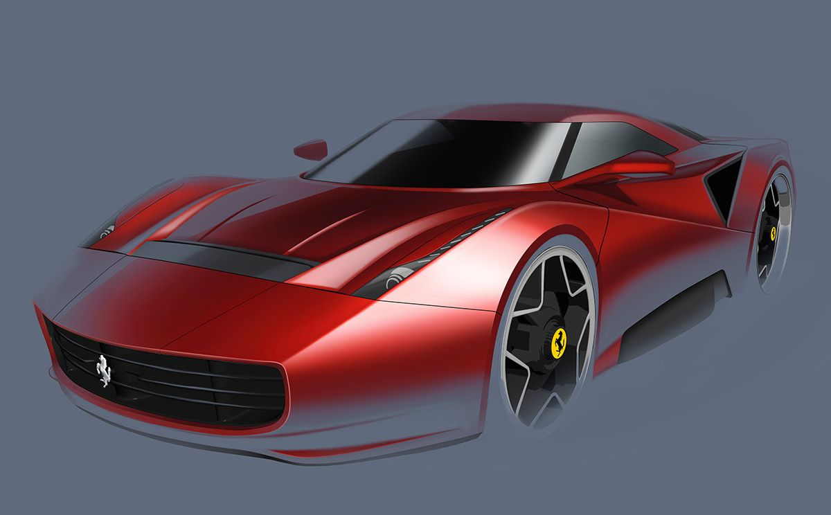 Ferrari Homage Concept on Behance