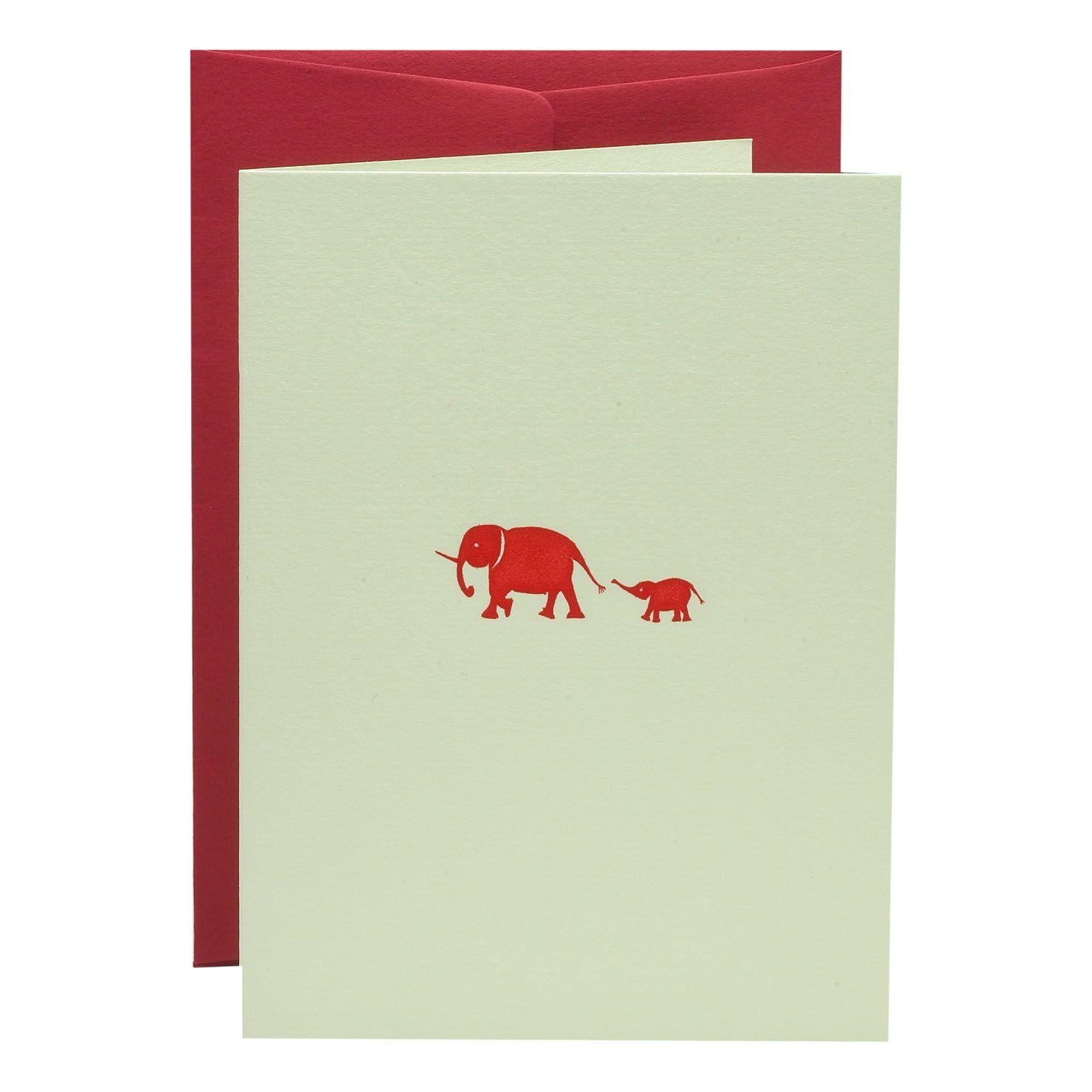 Julie Bell A6 Folded Elephant Cards & Envelopes In Box