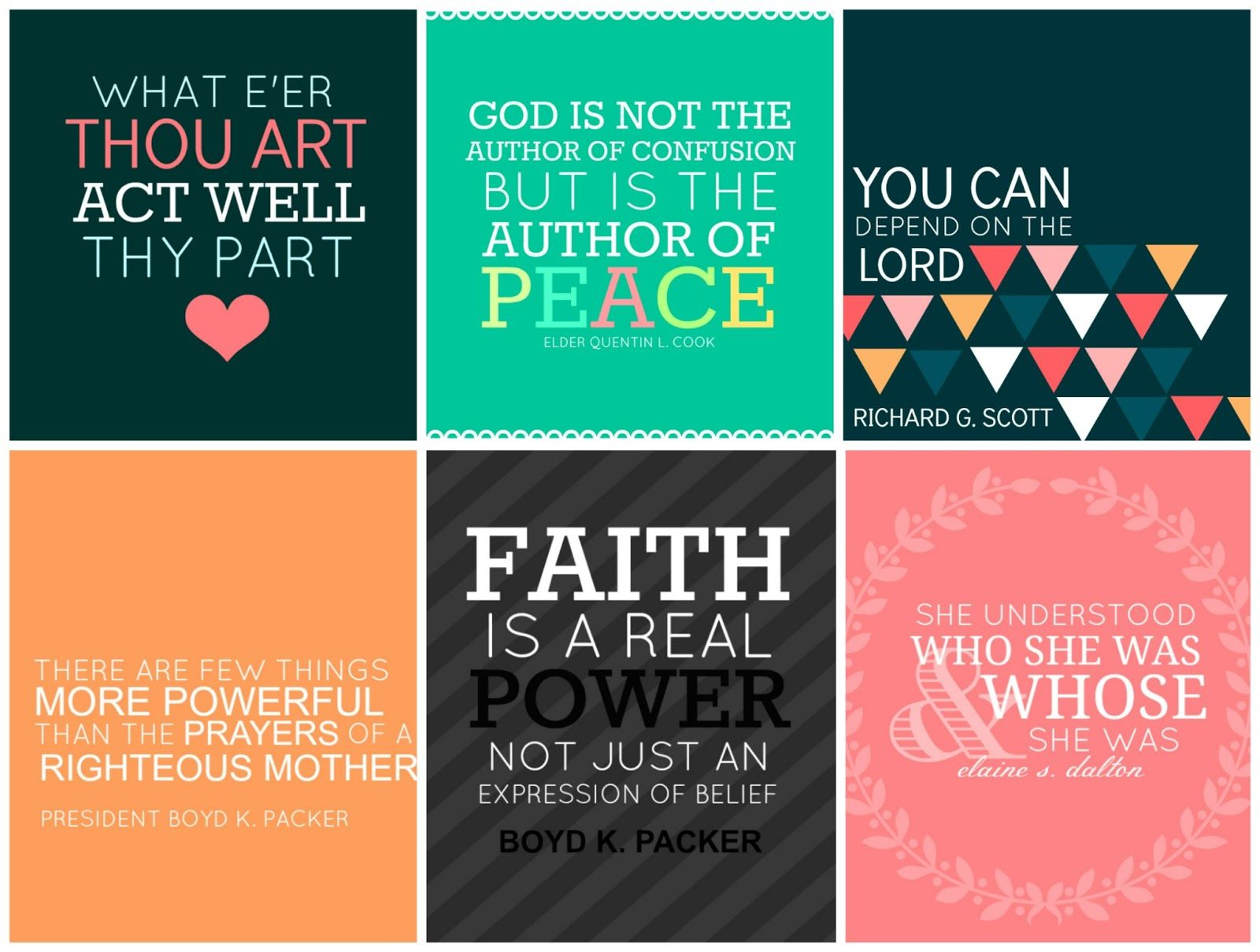 All Things Bright and Beautiful: General Conference Printables ...