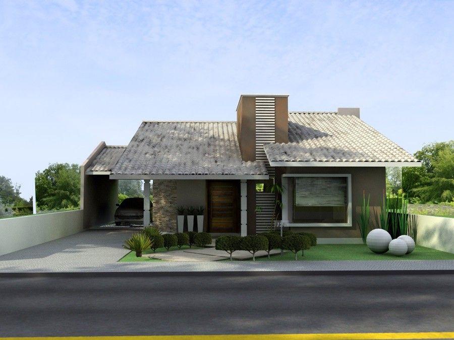 Fachadas de casas terreas com telhado aparente pesquisa for Google casas modernas