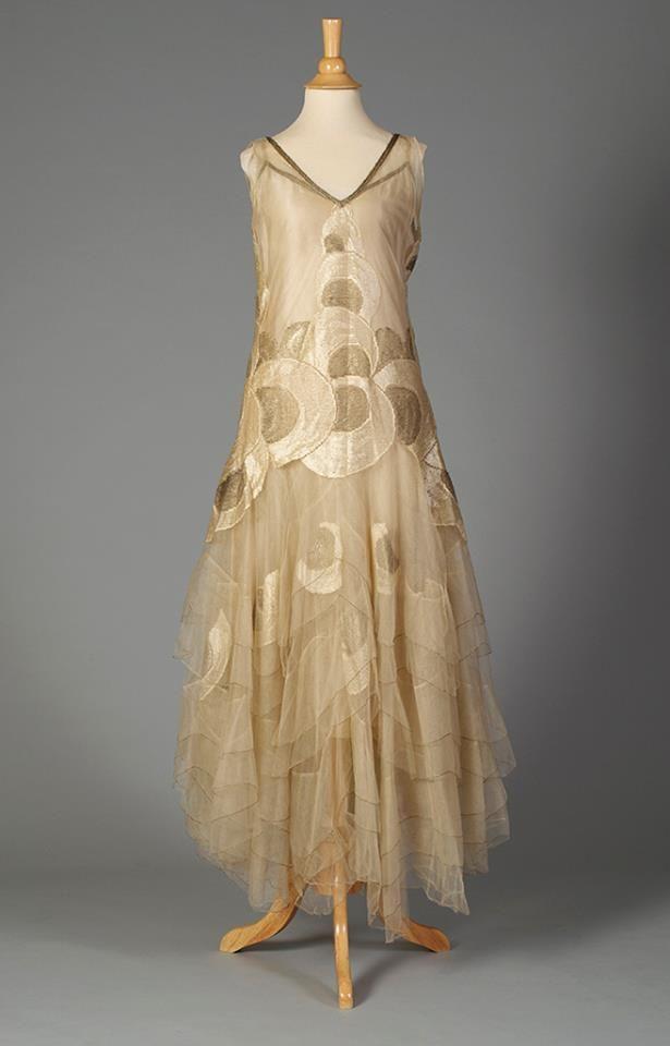 Ephemeral Elegance | Silk and Tulle Evening Dress, ca. 1920s via ...