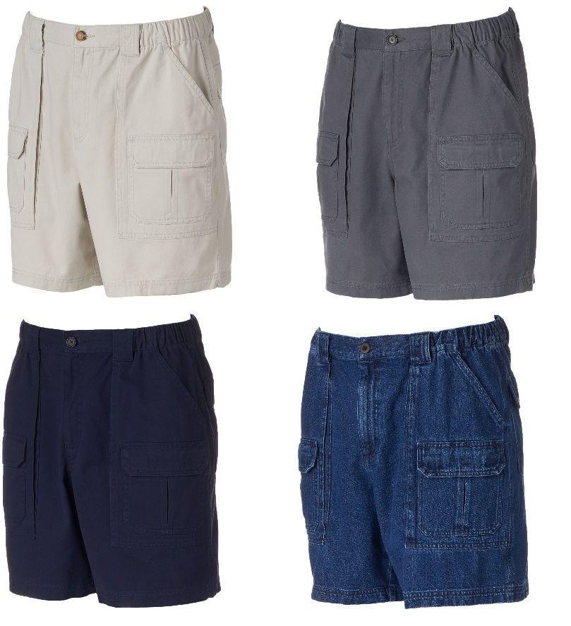 Details about Croft Barrow Mens Elastic Cargo Shorts Cotton sizes ...