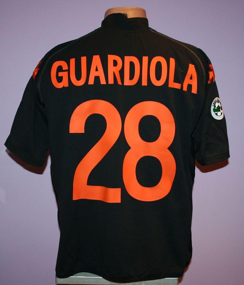 GUARDIOLA # 28 AS ROMA 2002/2003 AWAY SHIRT KAPPA SIZE XXL