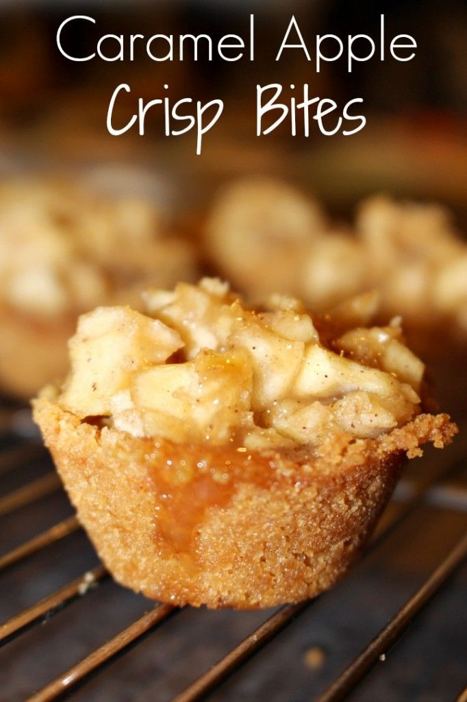 Delicious Caramel Apple Crisp Bites from Princess Pinky Girl
