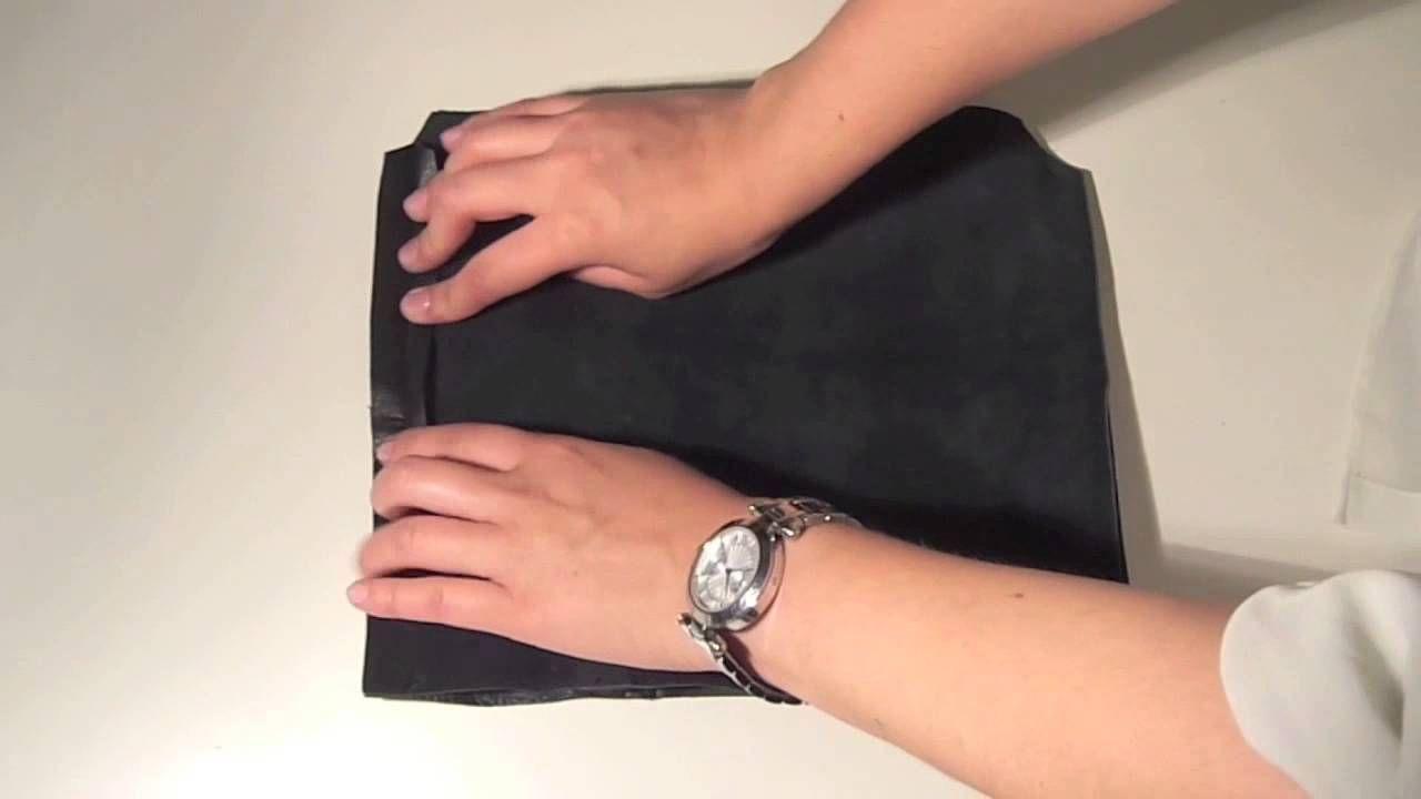 Video youtube comment faire une pochette en simili cuir couture avec du simili cuir - Comment porter une pochette ...