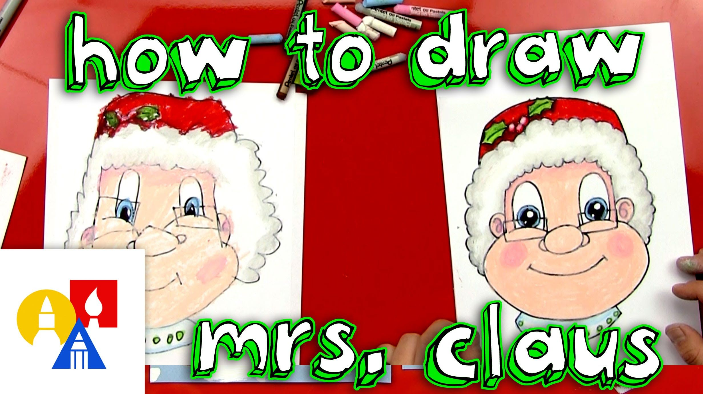 How To Draw Mrs Claus | Art for kids hub, Art for kids, How to draw santa