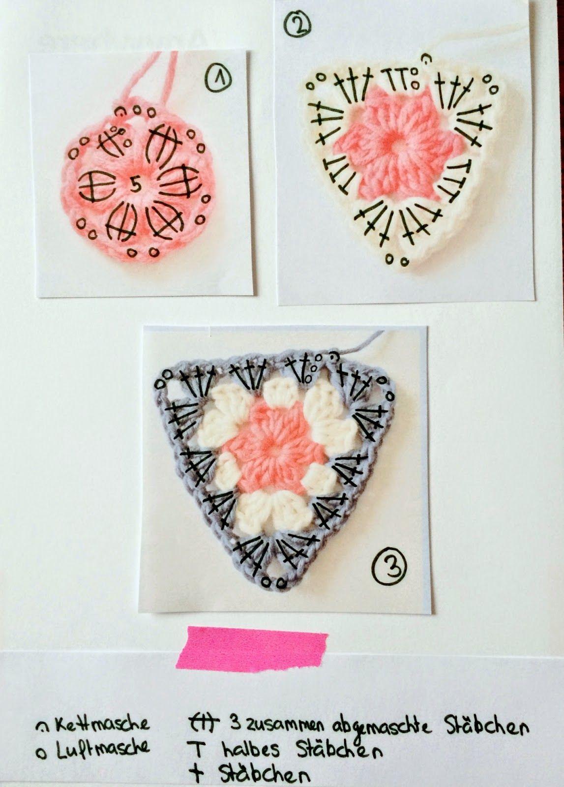 Alpenschick Wimpelkette Triunghi Granny Pinterest Crochet
