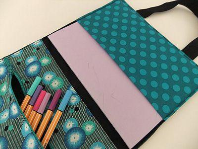 3-in-1 Stofftasche für Hefte, Laptop und Stifte, Laptoptasche ...