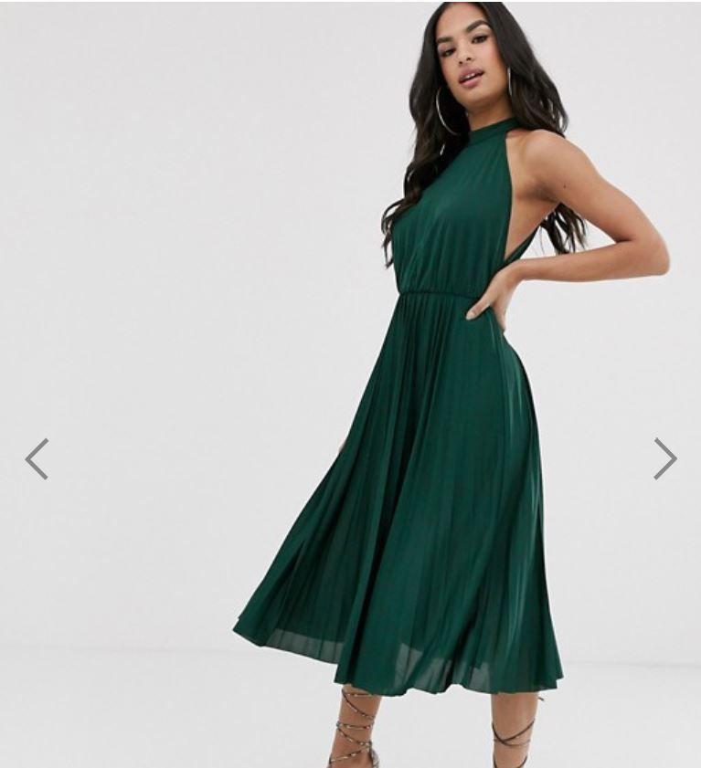 Emerald green dress for wedding guest in 2020 green