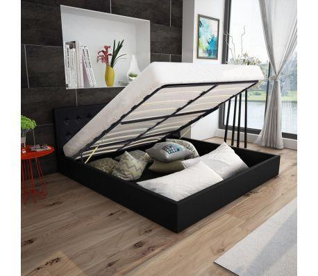 Bed 140x200 Met Matras.Vidaxl Bed Met Matras En Opslagruimte 140x200 Cm Kunstleer