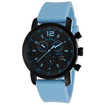 Lucien Piccard 42mm Toules Swiss Quartz Chronograph Silicone Strap Watch