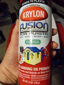 diy project spray paint plastic little tikes outdoor toys spray