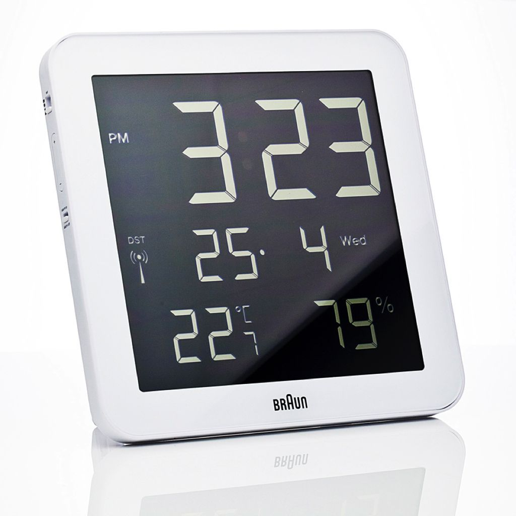 Braun Digital Wall Clock Bn C014 Rc Wall Clocks Clocks And Digital