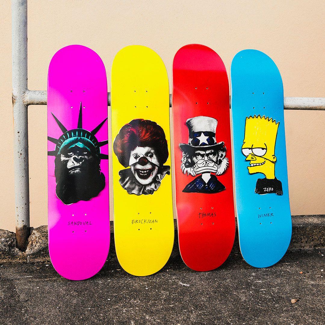 Zero Skateboards Iconoclash Decks Skateboard Deck Art Zero Skateboards Skateboard